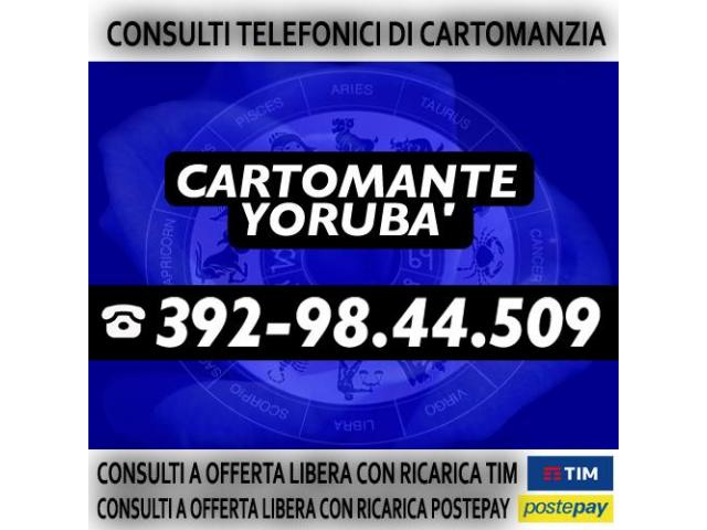 Chiama per un consulto di Cartomanzia con offerta libera - Cartomante YORUBA'